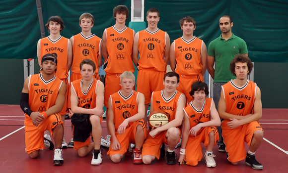 Taunton Tigers U16 Men National League South West Conference Team 2009/10